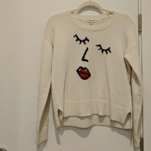 Small White Madewell Graphic Knit Sweater